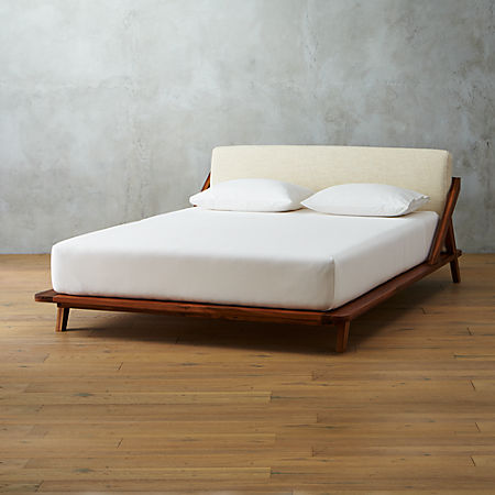 Tremendous Drommen Acacia Wood Queen Bed Ncnpc Chair Design For Home Ncnpcorg