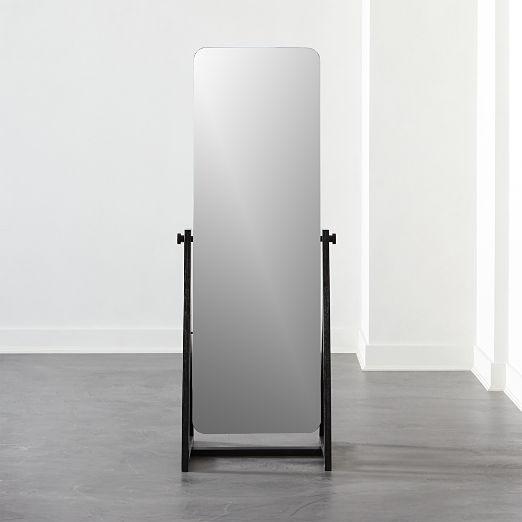 Drommen Black Standing Mirror