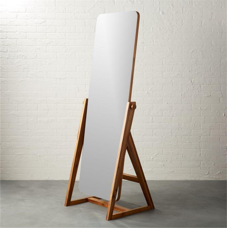 Wood Floor Mirrors Cb2