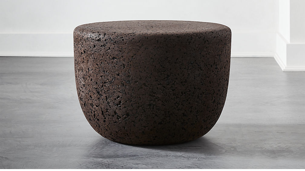 Drop Low Black Cork Side Table Small - Image 1 of 4