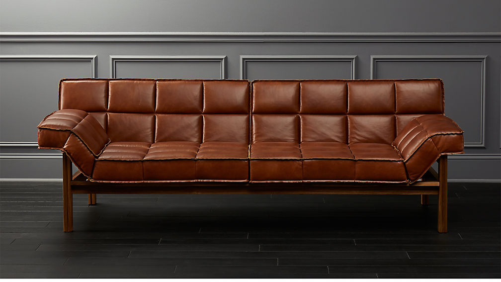 Drops Leather Sofa - Image 1 of 9
