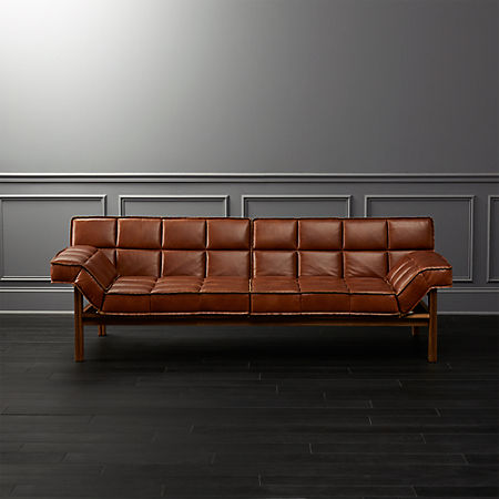 Drops Leather Sofa Reviews Cb2