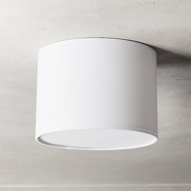 "Drum Flush Mount Light 9.25"" - Image 1 of 7"