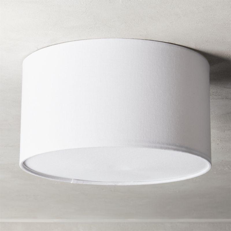 Drum Flush Mount Light 12 Reviews Cb2