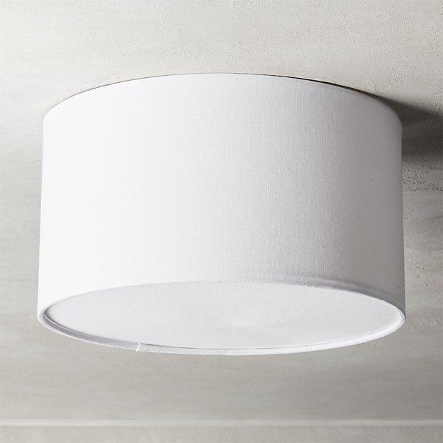 "Drum Flush Mount Light 12"" - Image 1 of 7"