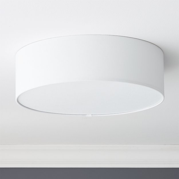 "Drum Flush Mount Light 19.75"" - Image 1 of 10"