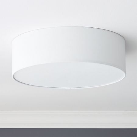 Drum Flush Mount Light 19 75 Reviews Cb2