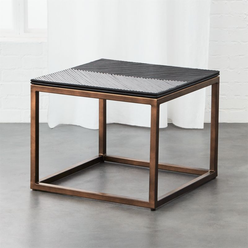Black Modern Nightstand CB - Cb2 tux coffee table