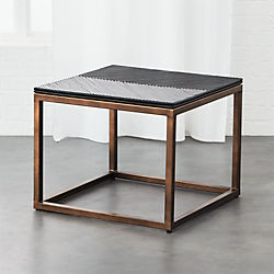 du monde rattan side table - Crate And Barrel End Tables