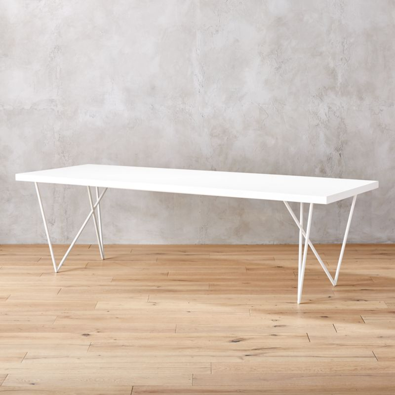 White Dining Tables CB - Cb2 tulip table