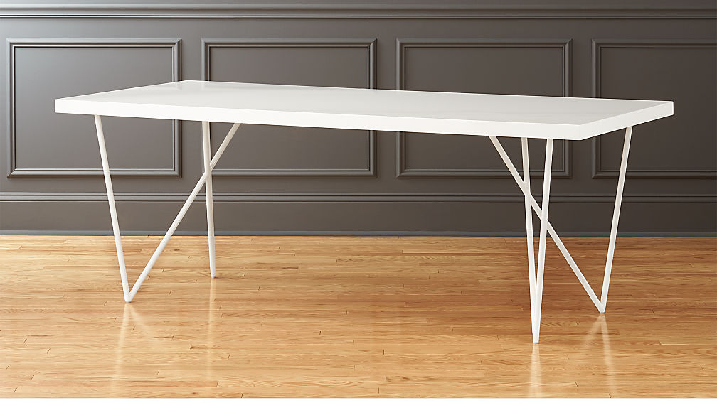 Dylan X White Lacquer Dining Table Reviews CB - Cb2 white dining table