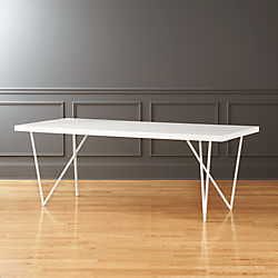 Dylan 36x80 White Dining Table
