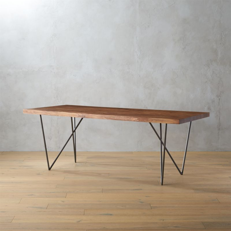 Dylan 36x80 sheesham wood dining table reviews cb2 greentooth Images
