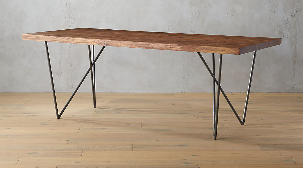 dylan 36x80 sheesham wood dining table + reviews   cb2 36 Inch Dining Bench