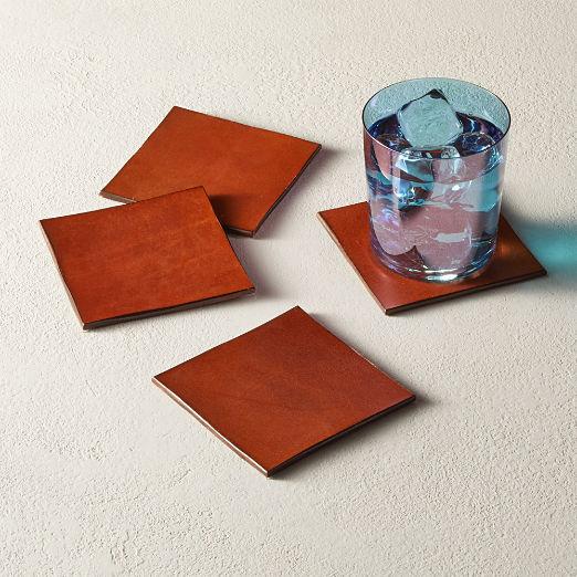 Eastwood Leather Coasters Set of 4