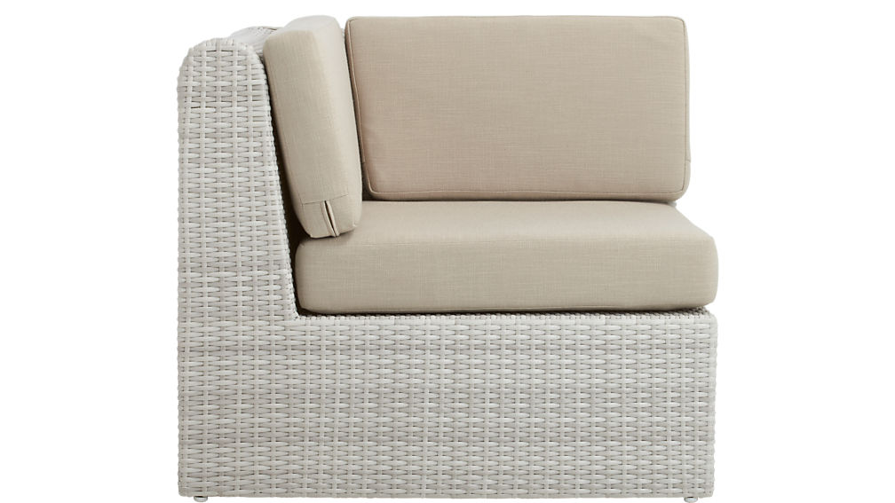 Ebb Outdoor Sectional Corner Chair + Reviews | CB2
