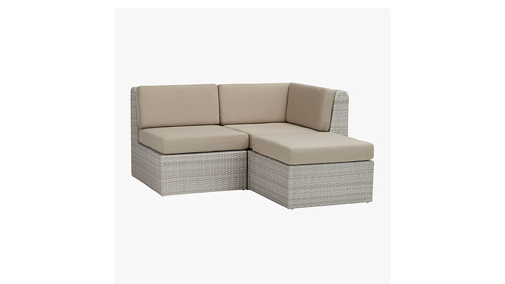 - Ebb Small Outdoor Sectional + Reviews CB2