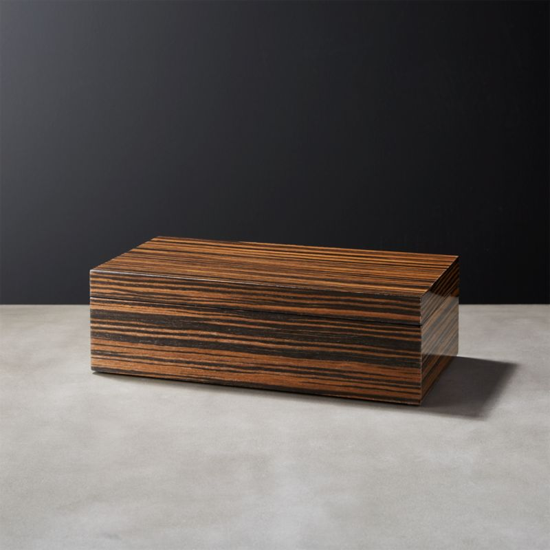 Ebony Small Wood Storage Box