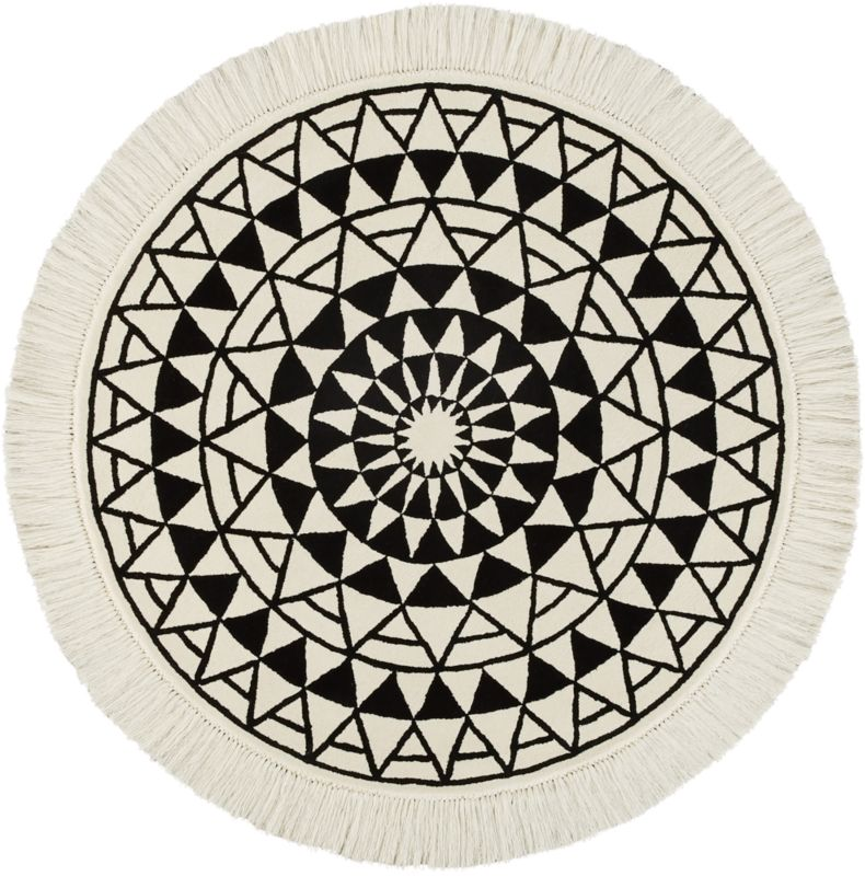 Create Drama With Black Carpets And Rugs: Modern Round Rugs