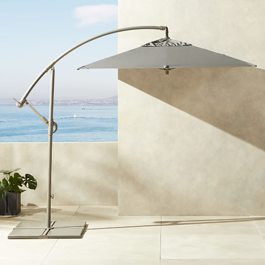 Eclipse Grey Umbrella with Base