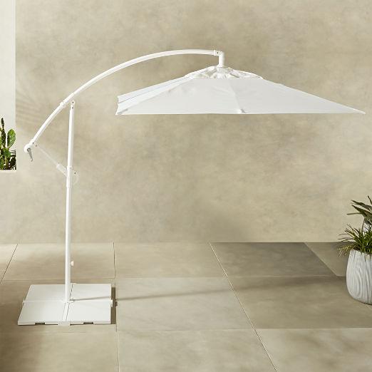 Eclipse White Umbrella with Base