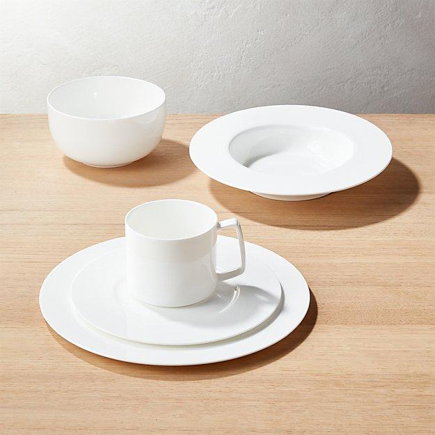 Eclipse White Dinnerware
