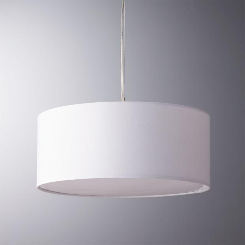 White pendant lights cb2 eden white pendant light aloadofball Gallery