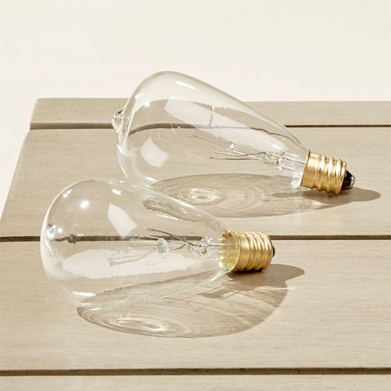 set of 2 edison string light bulbs reviews cb2. Black Bedroom Furniture Sets. Home Design Ideas