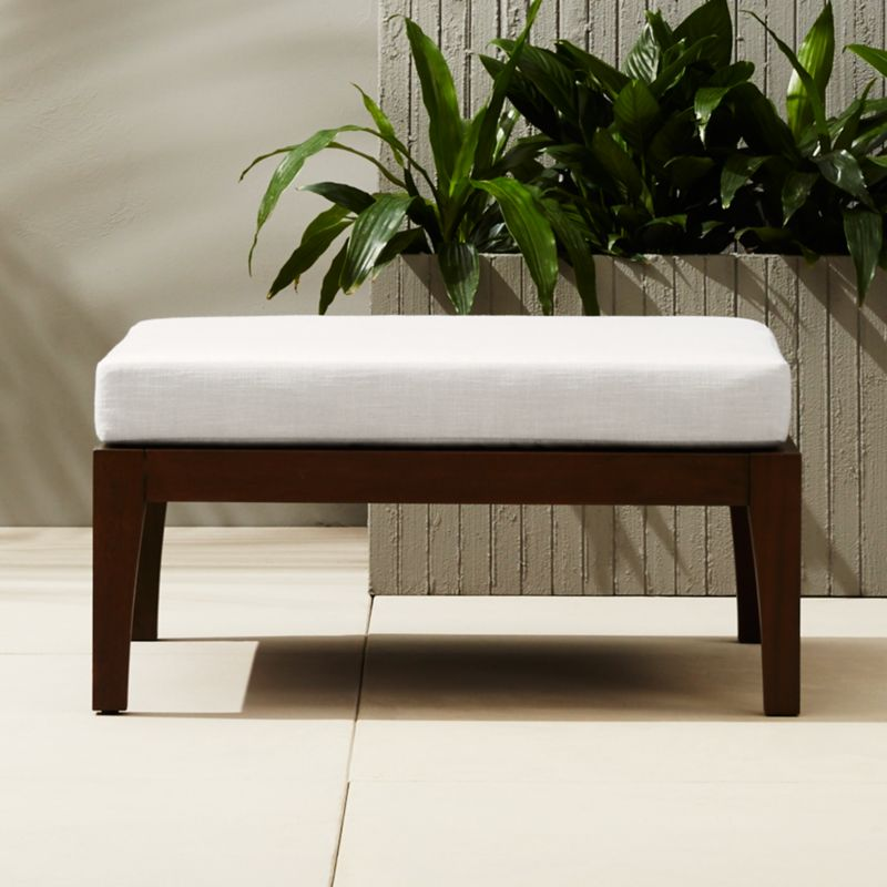 Elba Outdoor Ottoman Coffee Table + Reviews | CB2