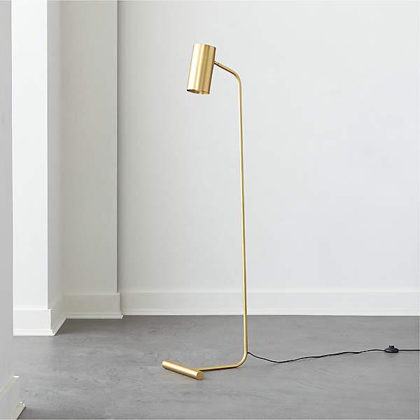 Eldon Task Brass Floor Lamp Cb2, Vintage Brass Task Floor Lamp