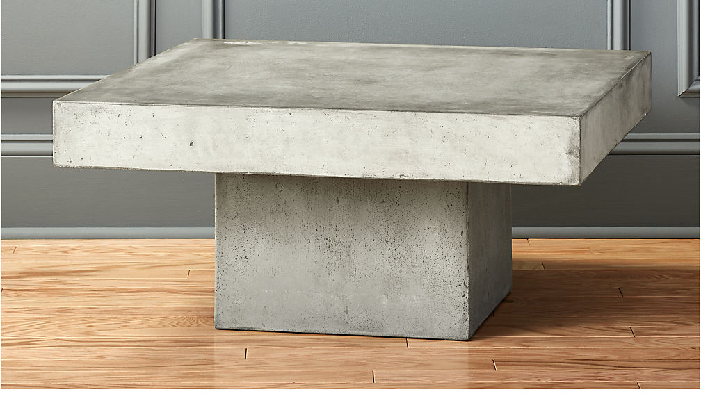 Element Cement Top Coffee Table Reviews CB - Cb2 stone table