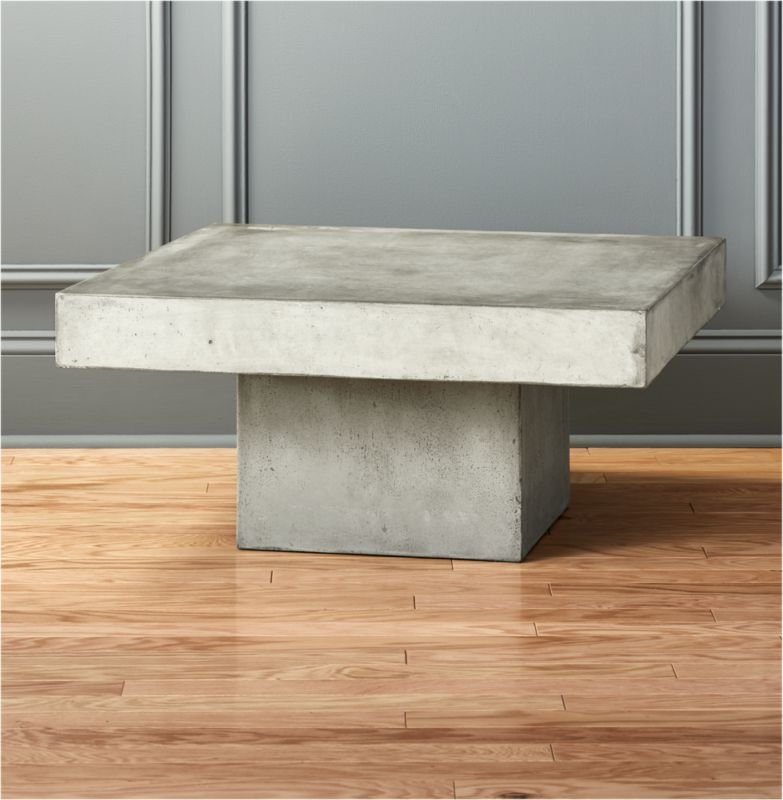 Element Cement Top Coffee Table + Reviews | CB2