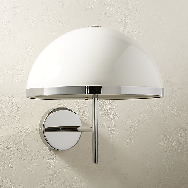 Eli White Sconce - Image 1 of 6