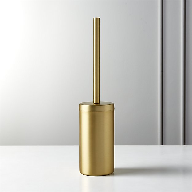 Elton Brushed Brass Toilet Brush - Image 1 of 12