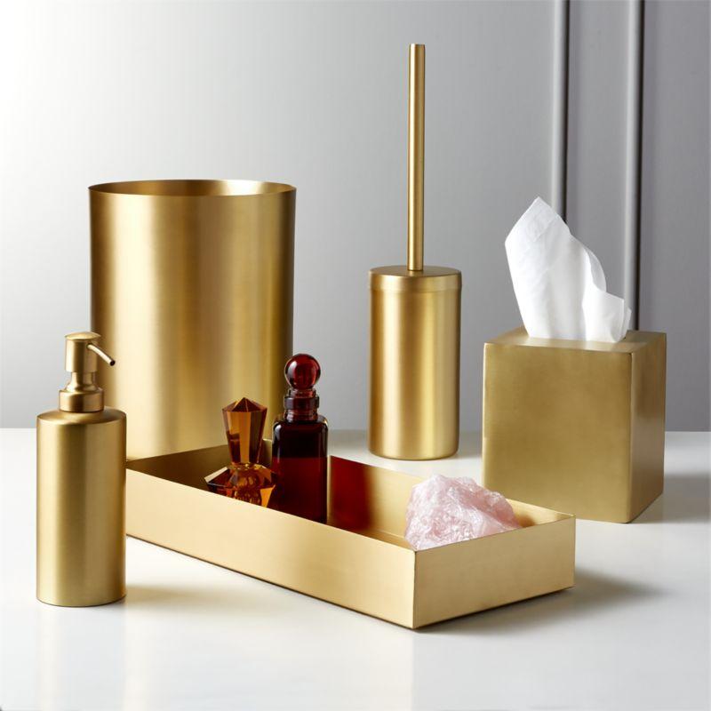 Elton Brushed Br Bath Accessories Cb2