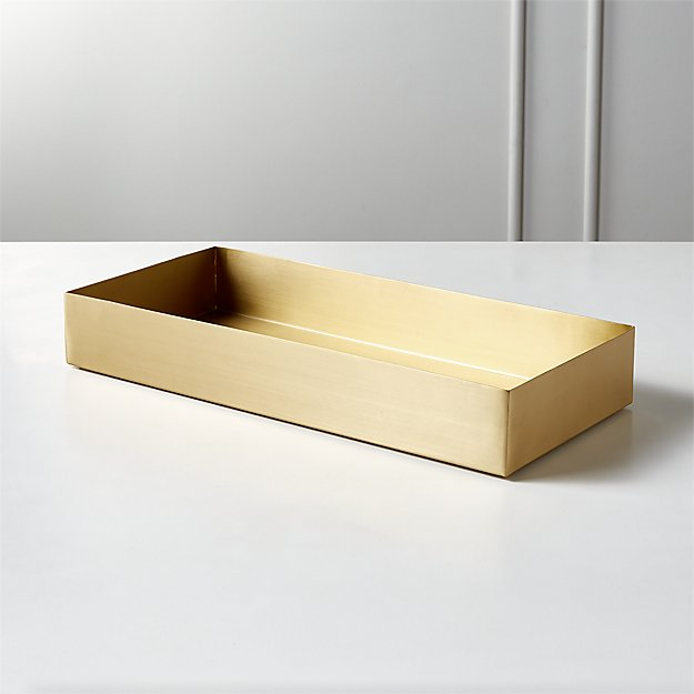 Elton Brushed Brass Tank Tray - Image 1 of 12