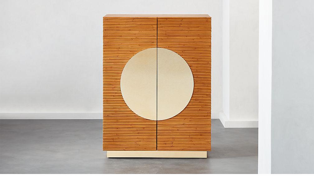 Emilio Rattan Bar/Entryway Cabinet - Image 1 of 9