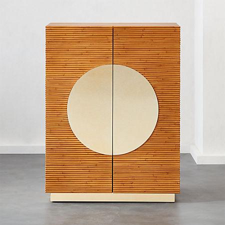 huge selection of f4560 00da1 Emilio Rattan Bar/Entryway Cabinet