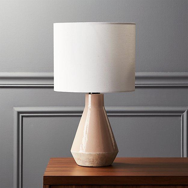 Emmie pink ceramic table lamp reviews cb2 aloadofball Choice Image