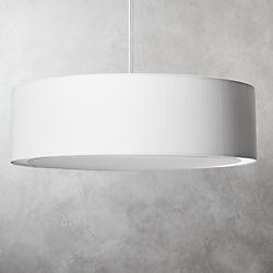 Equator White Oversized Pendant Light