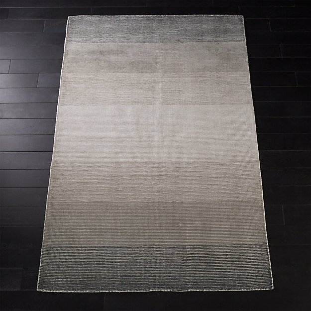 equinox grey ombre rug cb2. Black Bedroom Furniture Sets. Home Design Ideas
