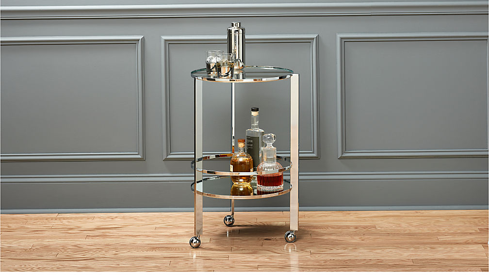 Ernest Chrome Bar Cart - Image 1 of 9