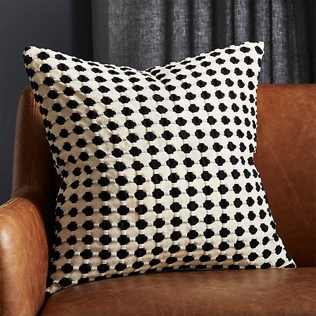 "20"" Estela Black and White Pillow - Image 1 of 4"