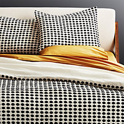 Estela Black And White Duvet Cover Cb2