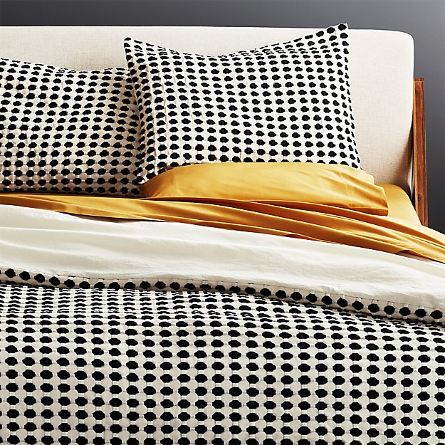30d8710725 Estela Black and White Full/Queen Duvet Cover + Reviews | CB2