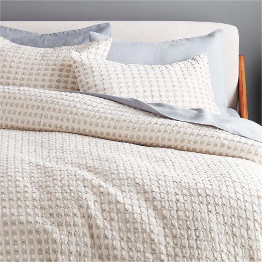 Estela Grey and White Duvet Cover