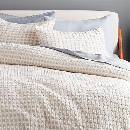 Estela Grey And White Duvet Cover Full