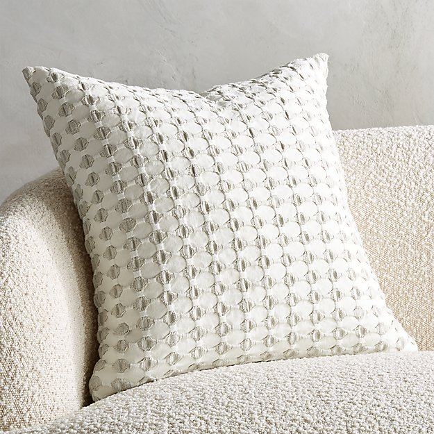 """20"""" Estela Grey and White Pillow - Image 1 of 7"""
