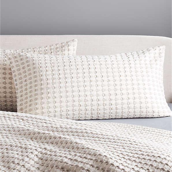 grey pillow shams cb2