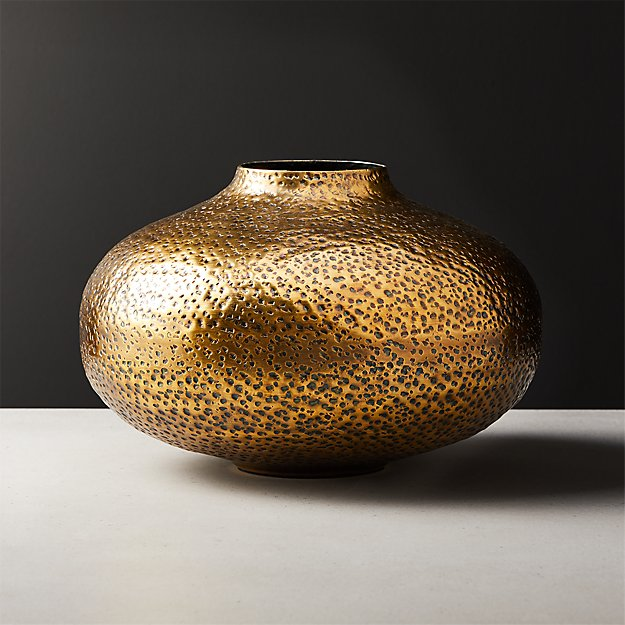 Etna Brass Vase - Image 1 of 4